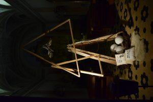 Dijaki Gimnazije Celje- Center so jaslice razstavili na Tartinijevem trgu. Foto: arhiv GCC.