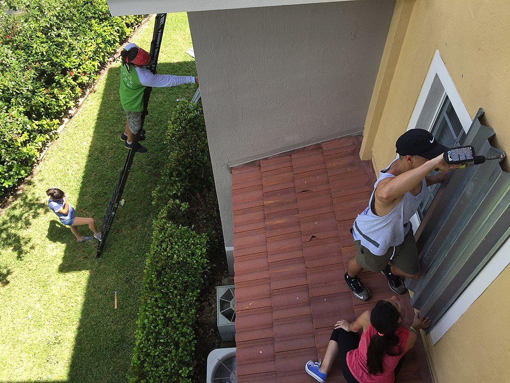 Na Floridi so tako zabarikadirali hiše in se pripravili na prihod orkana Irma. Vir: Cyclonebiskit/Wikimedia/CC