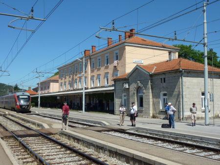 Železniška proga v Divači. Foto: Nils Öberg /Wikimedia