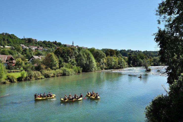 Rafting po Savi. Foto: Miran Kambič/Slovenia.info