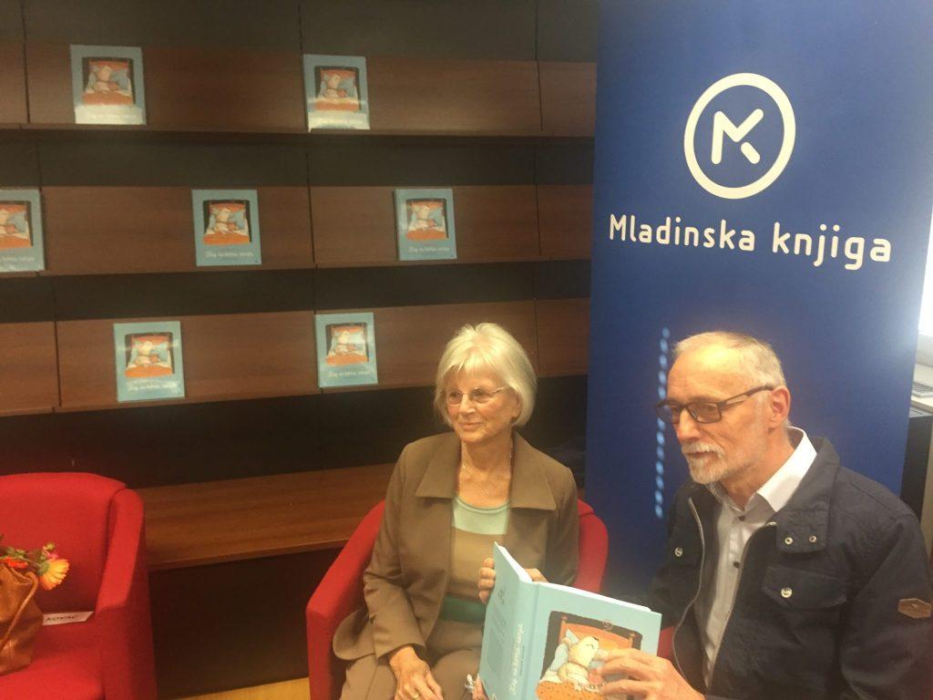 Pisateljica Polonca Kovač in ilustrator Marjan Manček. Foto: Sonja Merljak/Časoris