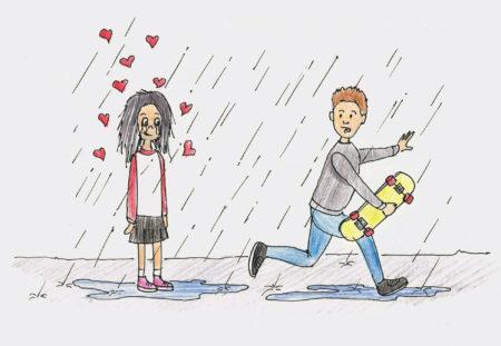 Prva ljubezen. Ilustracija: Miha Klenovšek