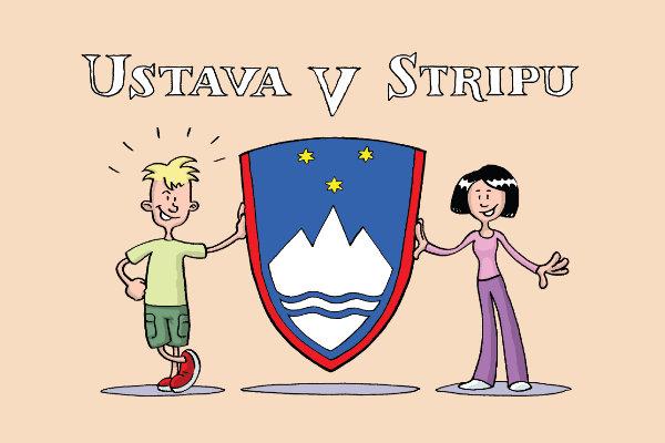 Ustava v stripu. Ilustracija: Zoran Smiljanić/Državni zbor