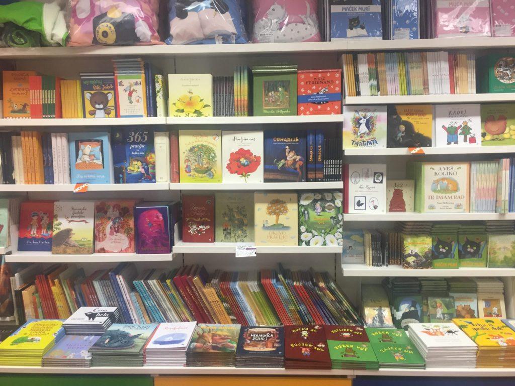 Otroški oddelek v knjigarni Konzorcij. Foto: Sonja Merljak/Časoris