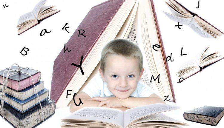 Deček in knjiga. Vir: Pixabay.