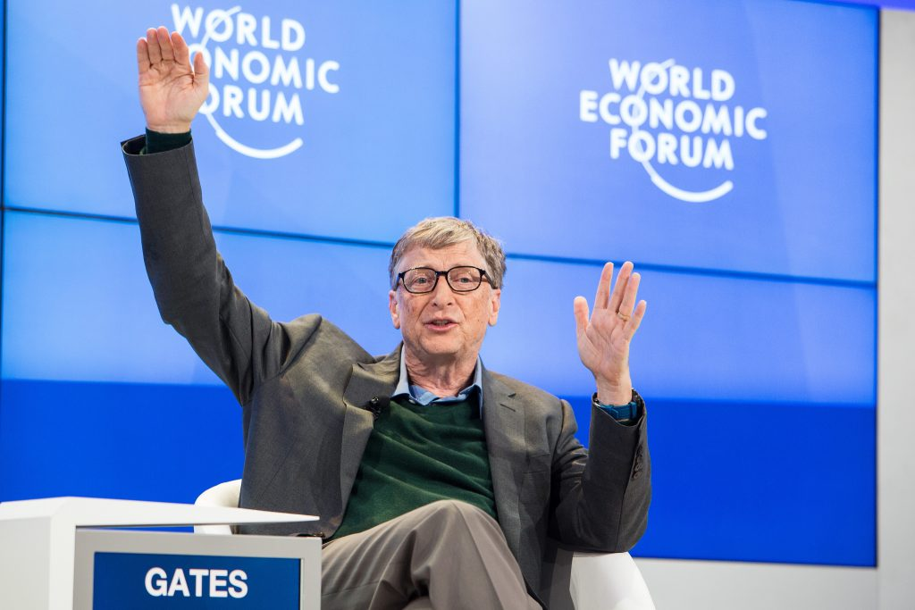 Bill Gates. Vir: Svetovni gospodarski forum