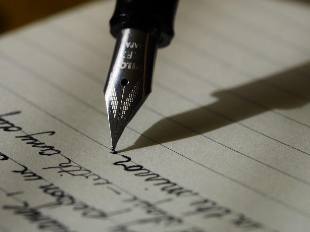 Pisanje z roko. Vir. Pixabay