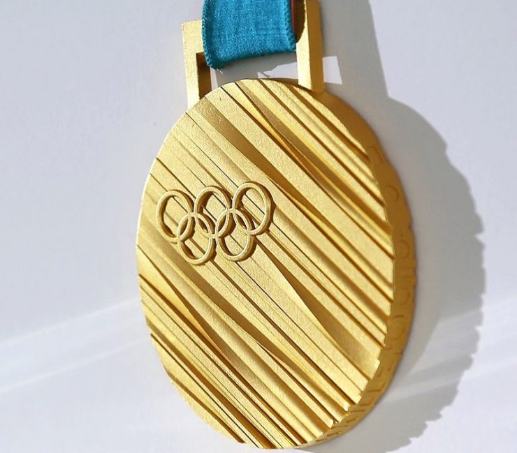 Gold medal in Korean Winter Olympic Games. Credit: Wikipedia