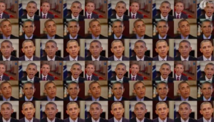 Obrazi nepristnega Baracka Obame. Vir: Posnetek zaslona/You Tube