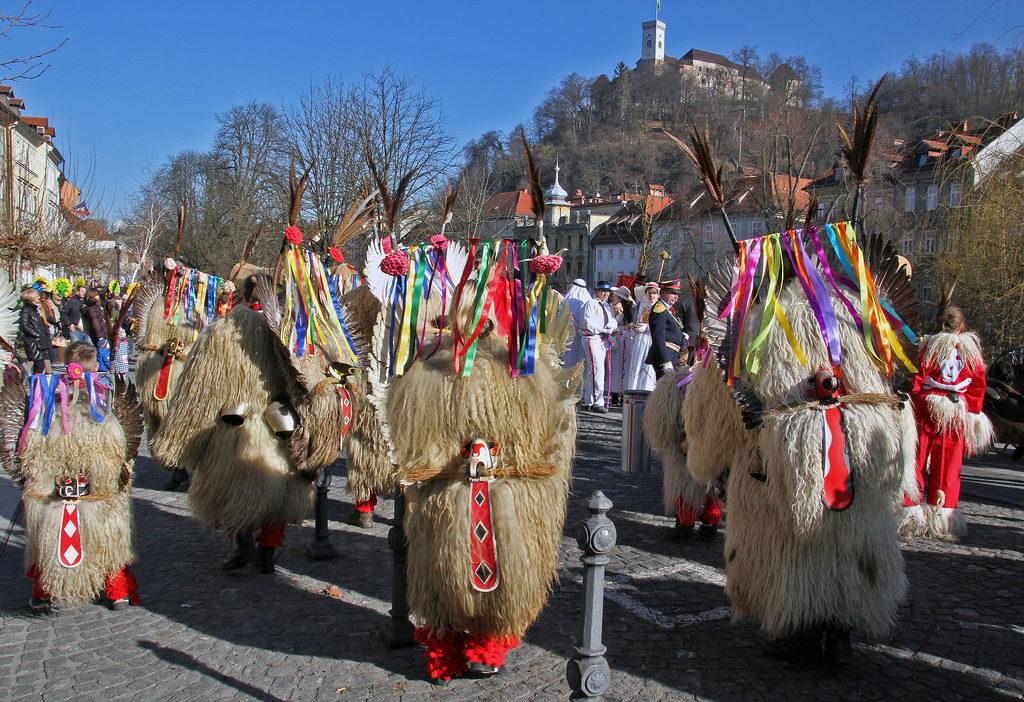 Najbolj znane maske v Sloveniji so kurenti. Foto: BockoPix/Flickr