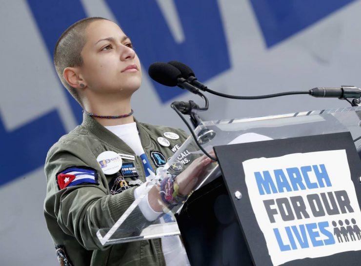 Emma González je ena od preživelih dijakinj s Floride. Njene besede na shodu za življenja so se dotaknile mnogih. Vir: March For Our Lives/Facebook