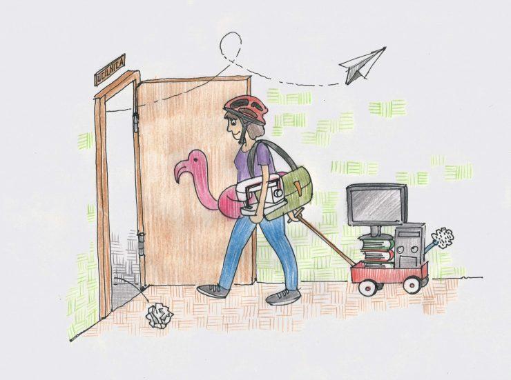 Poklic učiteljica. Ilustracija: Miha Klenovšek