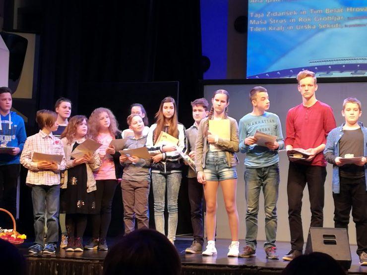 Nagrajenci 16. Otroškega festivala gledaliških sanj. Vir: Osebni Arhiv Taje Zidanšek