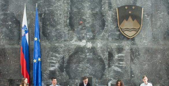 Jure Šimonka, predsedujoči 28. Otroškega parlamenta. Foto: Rok Dolenc