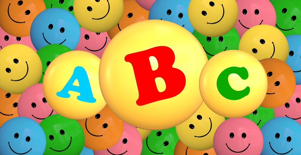 Smeškoti ABC. Vir: Pixabay