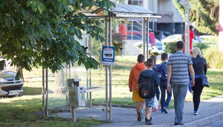 Pešbus in Bicivlak. Foto: Boštjan Pucelj/Aktivno v šolo