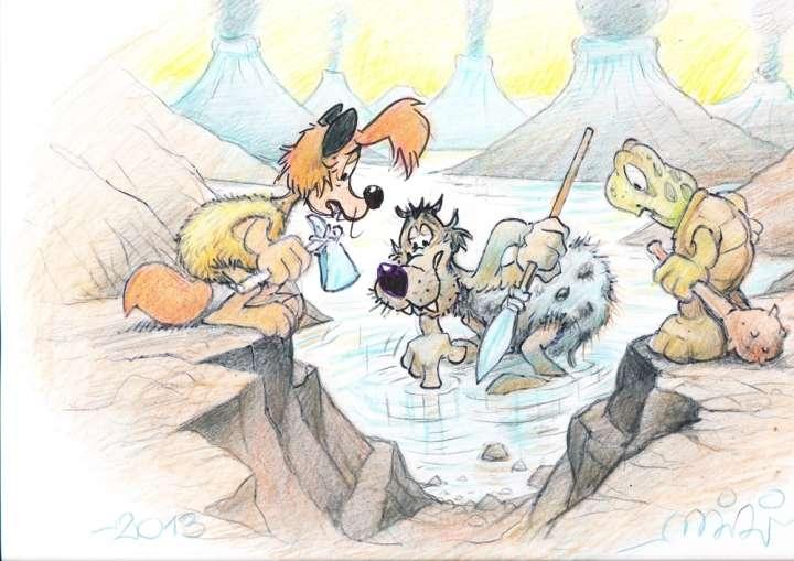 Miki Muster in Dogodivščine Zvitorepca, Trdonje in Lakotnika. Vir: Dogodivščine Zvitorepca, Trdonje in Lakotnika