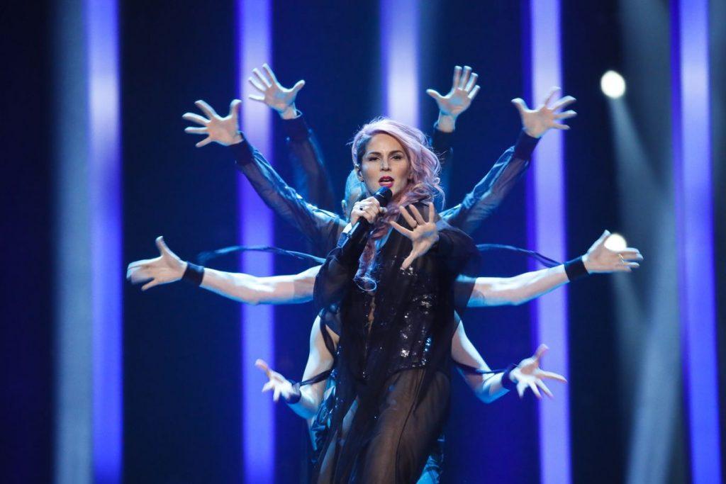Evrovizija 2018 in Lea Sirk. Foto: Andreas Putting/EBU.