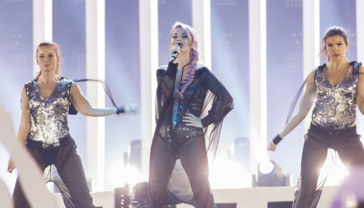 Lea Sirk in Evrovizija 2018. Vir: Eurovisionary