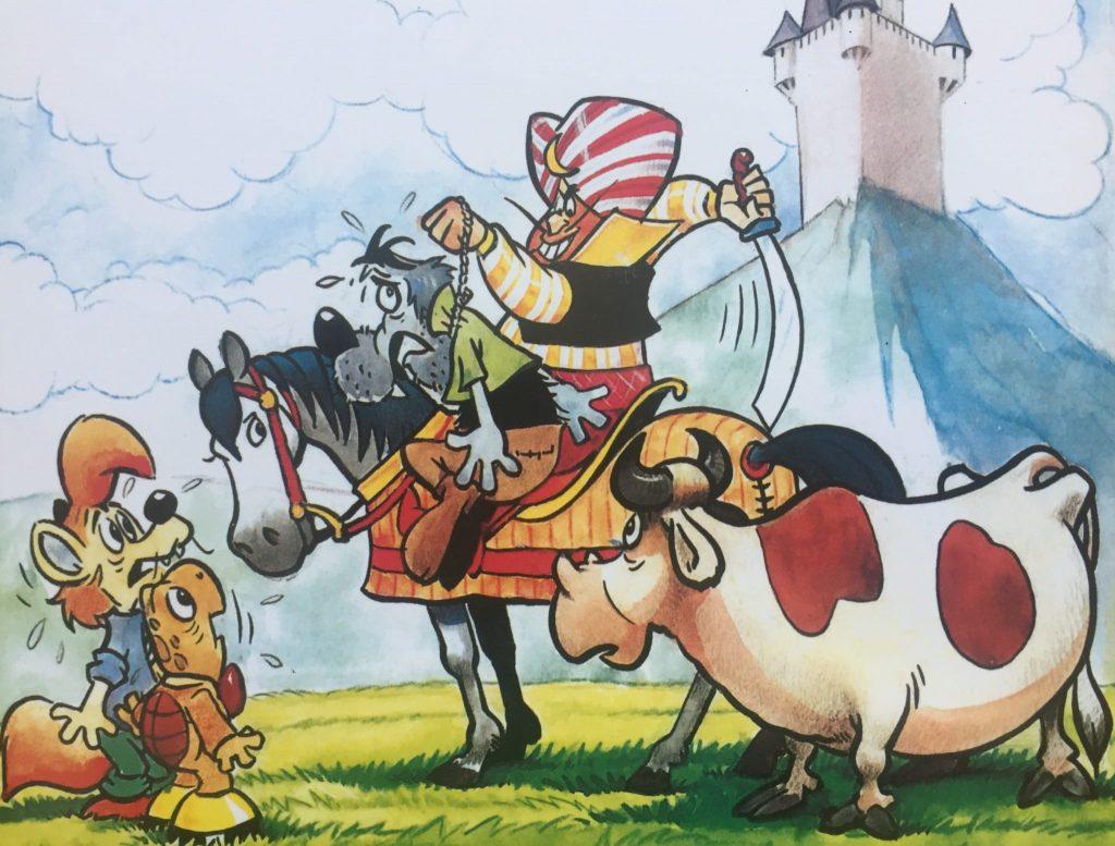 Naslovnica jubilejnega 11. ponatisa stripov o Zvitorepcu, Trdonji in Lakotniku. Foto: Sonja Merljak/Časoris