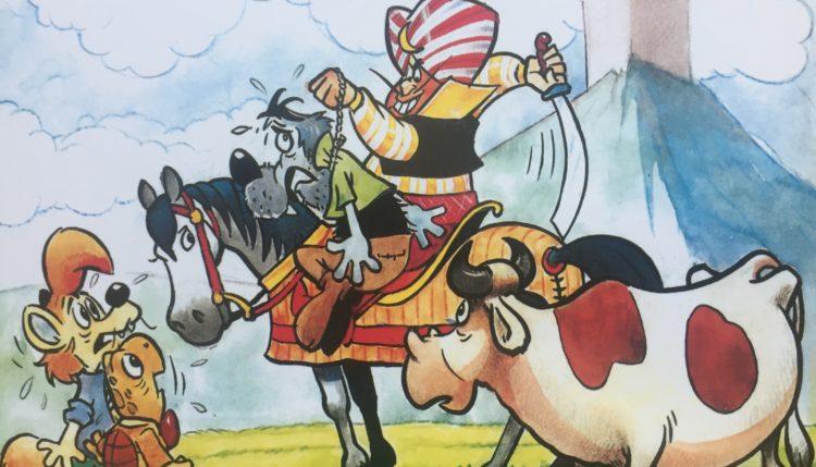 Naslovnica jubilejnega 11. ponatisa stripov o Zvitorepcu, Lakotniku in Trdonji. Foto: Sonja Merljak/Časoris