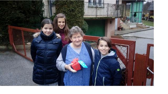 Mladi prostovoljci z OŠ Grad. Vir: Slovenska filantropija