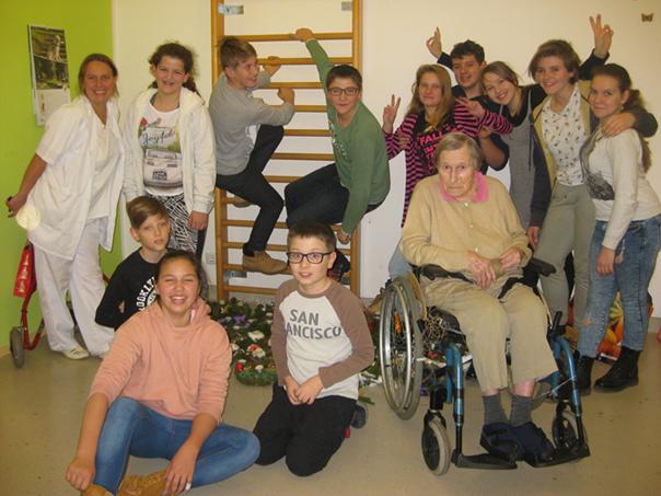 Mladi prostovoljci z OŠ Preska. Vir: Slovenska filantropija