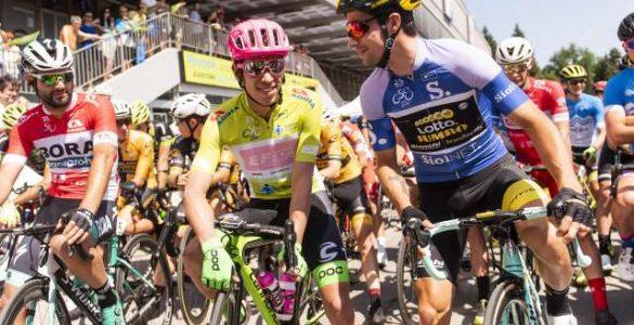 Na štartu četrte etape kolesarske dirke Po Sloveniji tudi Primož Roglič. Foto: Bor Slana/STA