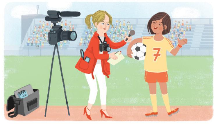 Poklic novinarka. Ilustracija: Marta Bartolj