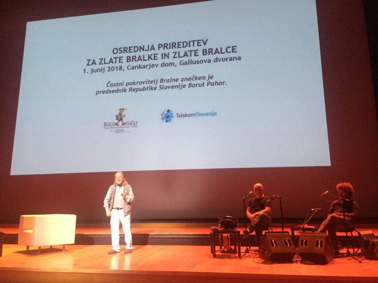 Andrej Rozman - Roza na prireditvi za zlate bralce. Foto: Sonja Merljak/Časoris
