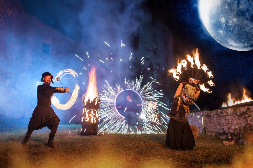 Ognjene točke na Zmajevem festivalu. Vir: Ljubljanski grad