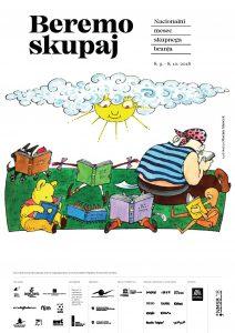 Projekt Nacionalni mesec skupnega branja spodbuja bralno pismenost. Vir: Društvo Bralna značka Slovenije - ZPMS
