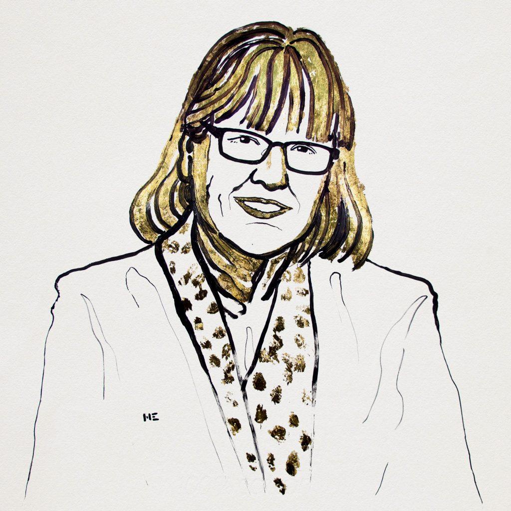 Donna Strickland in Nobelove nagrade 2018. Ilustracija: Niklas Elmehed/ Nobel Media AB 2018