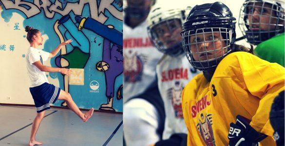 Tudi fantje plešejo in punce igrajo hokej. Filip in Lara. Foto: Sladjan Ljubojević