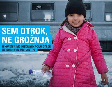 Otroci beguncev. Vir: Unicef