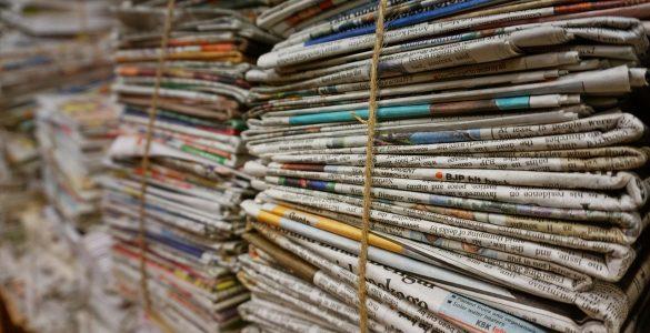 Zbiranje starega papirja. Vir: Pixabay