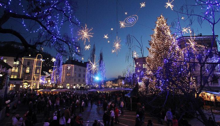 Prižig lučk 2018 in lučke v Ljubljani. Foto: Aleš Fevžer/STO