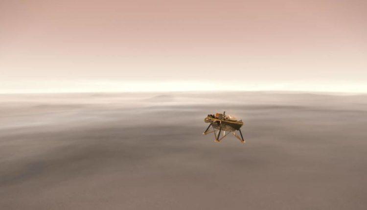 Insight na Marsu. Vir: Nasa/JPL-Caltech