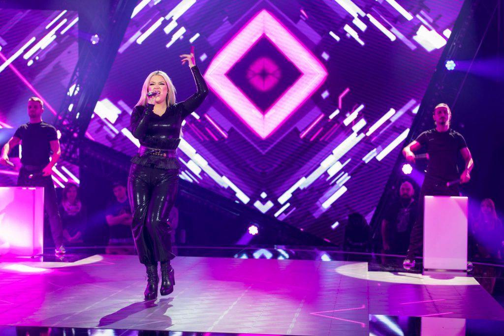 Prva je na oder stopila Kim s pesmijo Rhythm Back to You. Foto: Adriajn Pregelj/RTV SLO
