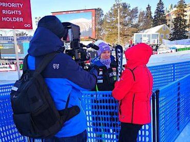 Ilka Štuhec na svetovnem prvenstvu na Švedskem. Foto: Aleksander Mladenovič/STA