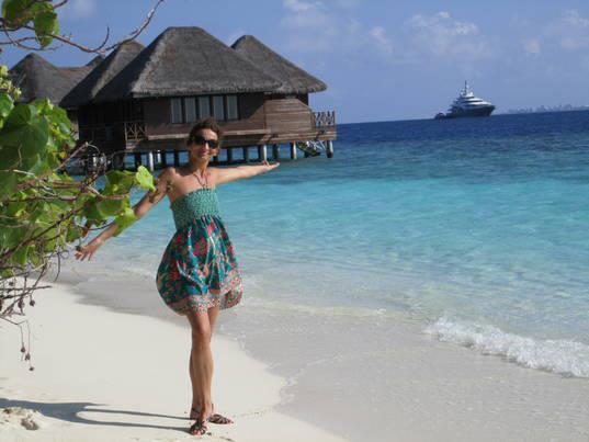 Tina Mušič na Maldivih. Vir: Osebni arhiv