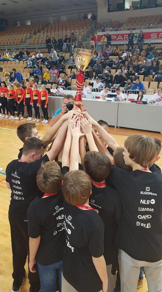 Košarkarji KK Ljubljana so v kategoriji U13 zmagovalci Mini pokala Spar. Vir: KK Ljubljana