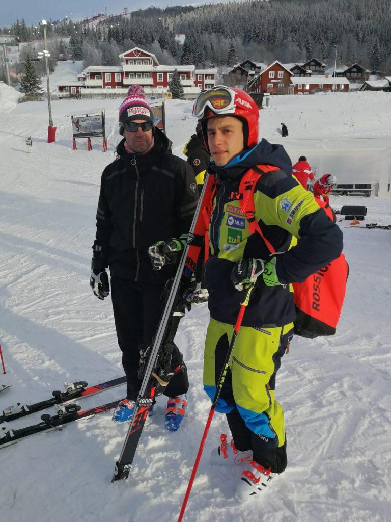 Žan Kranjec na svetovnem prvenstvu v Åreju. Vir: SloSki