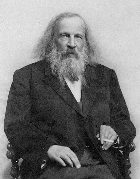 Dimitrij Ivanovič Mendelejev. Vir: Wikipedia