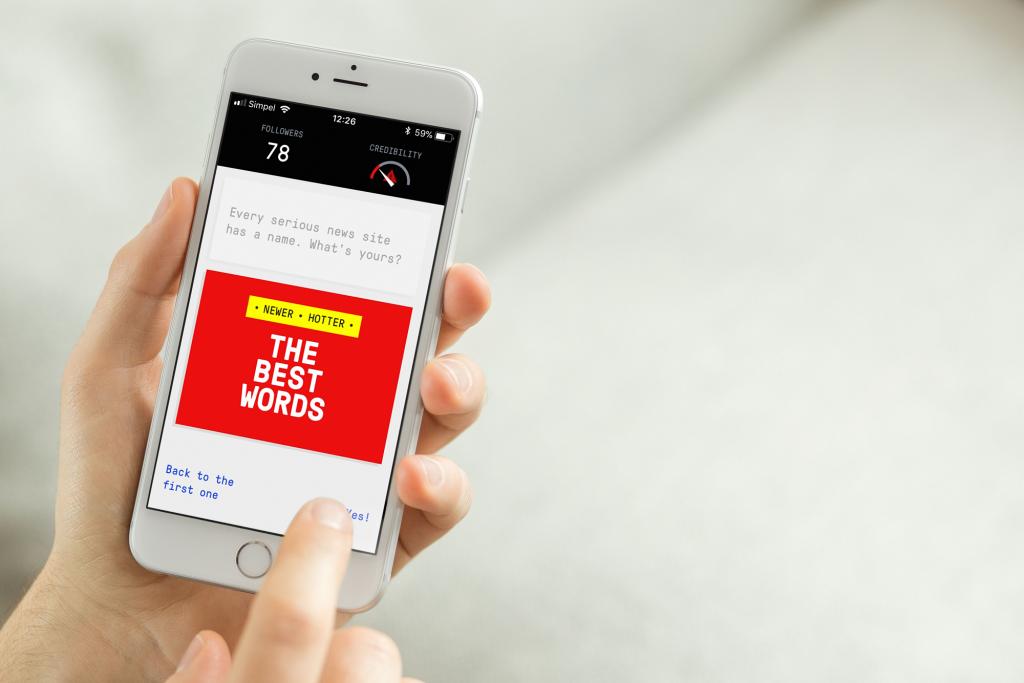 Spletna igra Bad News pomaga prepoznavati lažne novice in preprečevati njihovo širjenje. Vir: DROG