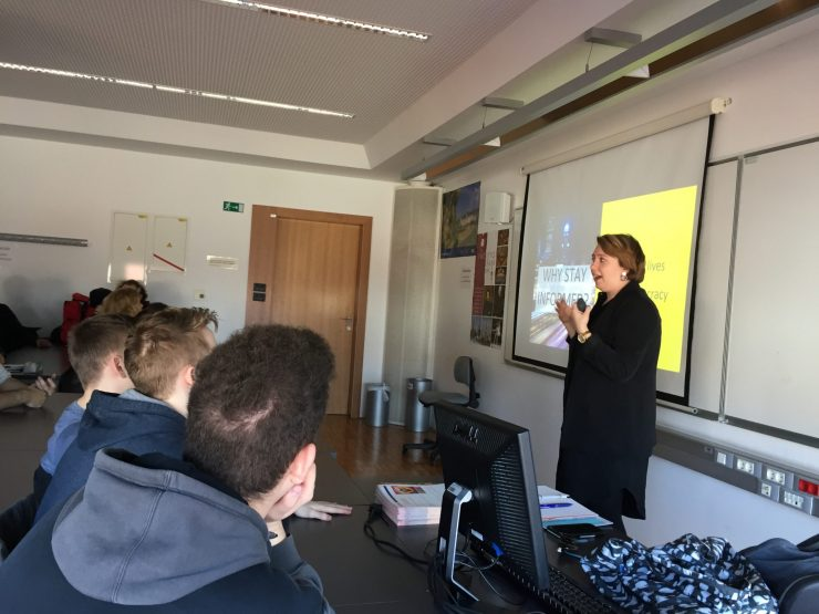 Jessi McCarthy na delavnici Kako ustaviti lažne novice. Foto: Sonja Merljak/Časoris