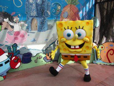 Spužija kvadratnika lahko srečaš tudi v Universal Studios v Kaliforniji. Foto: Loren Javier/Flickr