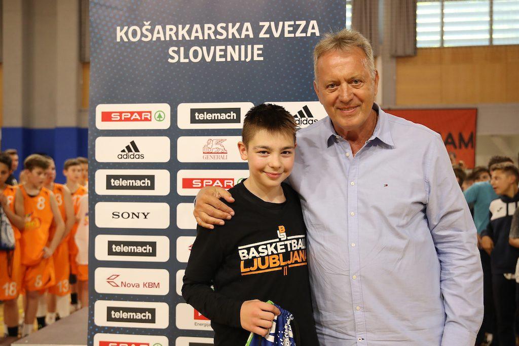 Mark Povše in Zmago Sagadin. Vir: Košarkarska zveza Slovenije