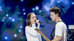Zala in Gašper. Foto: Andres Putting/Eurovision.tv