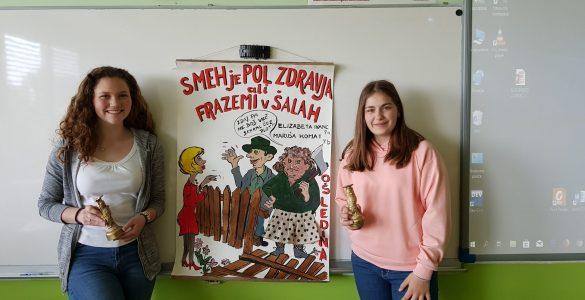 Elizabeta Ivanc in Maruša Komat. Foto: Katarina Rigler Šilc/OŠ Ledina